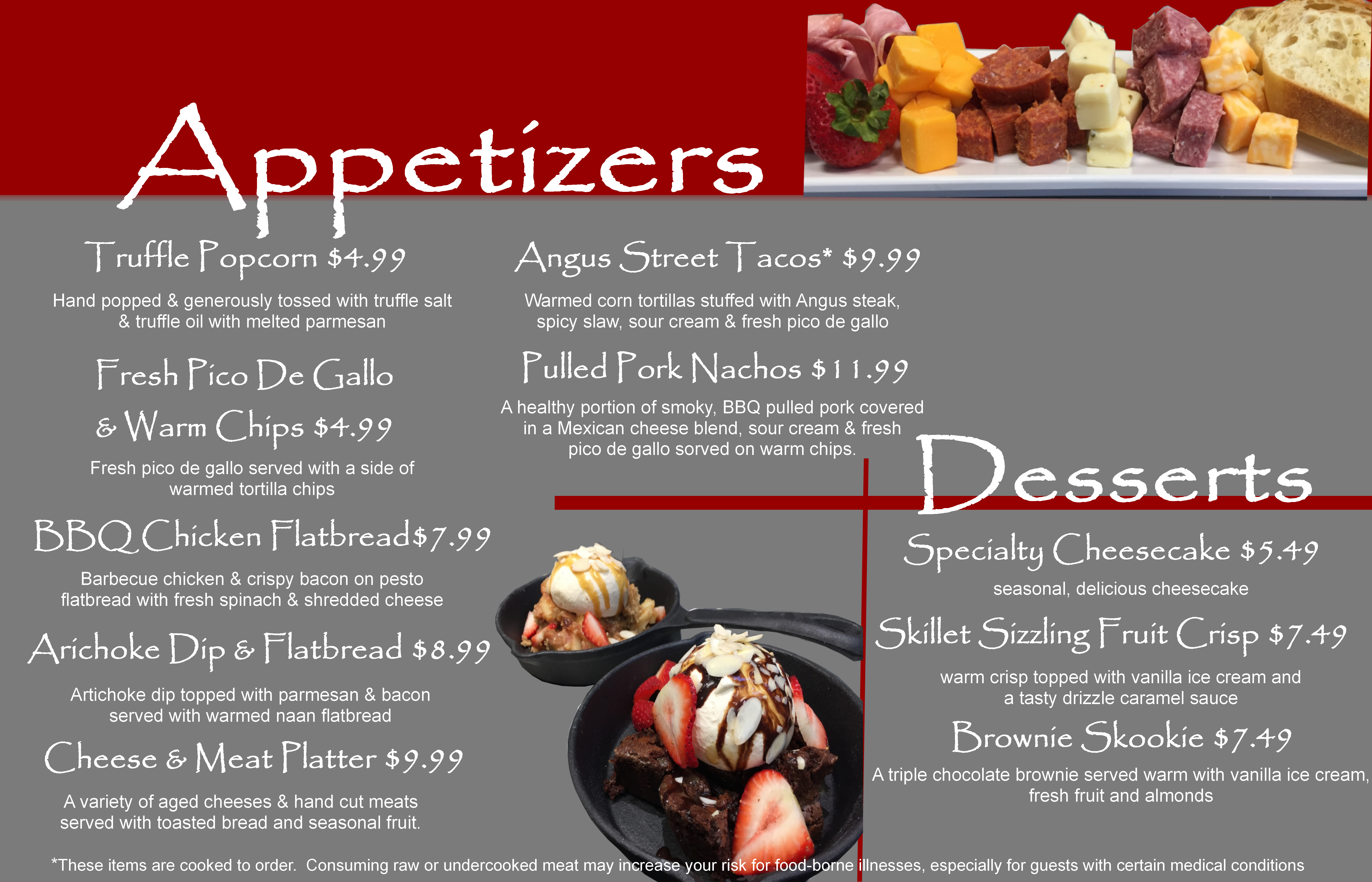 appetizers & Desserts